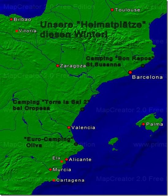 Heimatplätze Spanien