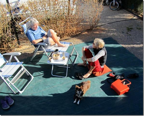 Kaffeeklatsch auf der Terrasse