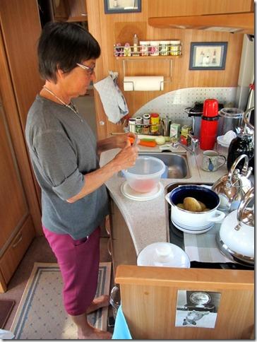 Vorbereitung Pfannengemüse