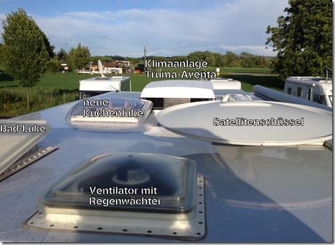 4 Solarplatten sind auch noch da oben versteckt