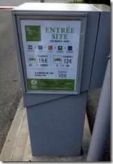 Parkgebühren Pont du Gard