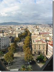 Aussicht auf die Rambla in Barcelona