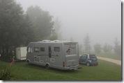 unsere Terrasse im Nebel