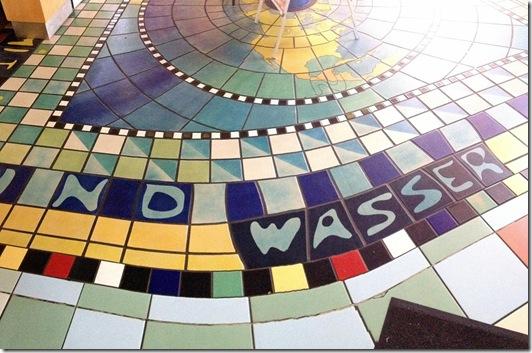 Entwurf von Friedensreich Regentag Dunkelbunt Hundertwasser