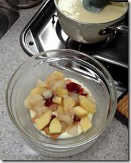 Pudding-Kekse-Marmelade-Äpfel