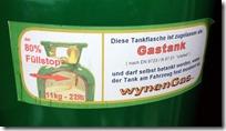 Wynen Tankflasche - Füllstopp