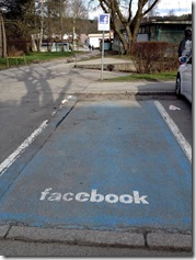Facebook-Parkplatz