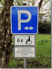 Parkplatz für Blinde