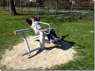 Fitnessgeräte im Kurpark