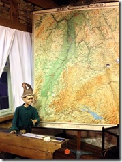 Landkarte am Kartenständer