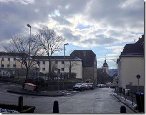 Siegen (Burgstraße) - Blick vom oberen Schloss auf die Oberstadt