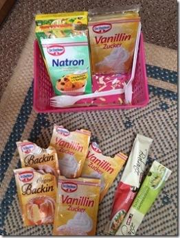 Backpulver und Vanillin-Zucker