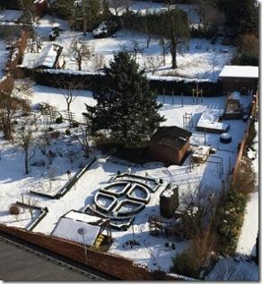 Garten von oben dieses Jahr