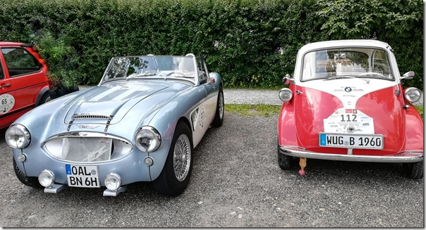 Oldtimertreffen (Austin Healey + BMW Isetta)