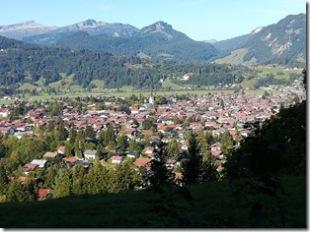 Ausblick auf Oberstdorf