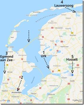 unsere Stationen in den Niederlanden